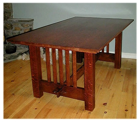 Arts & Crafts/mission Style Dining Room Intended For Craftsman Rectangle Extension Dining Tables (Image 7 of 25)
