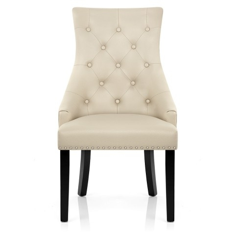 Ascot Dining Chair Cream Leather – Atlantic Shopping In Real Leather Dining Chairs (Image 3 of 25)