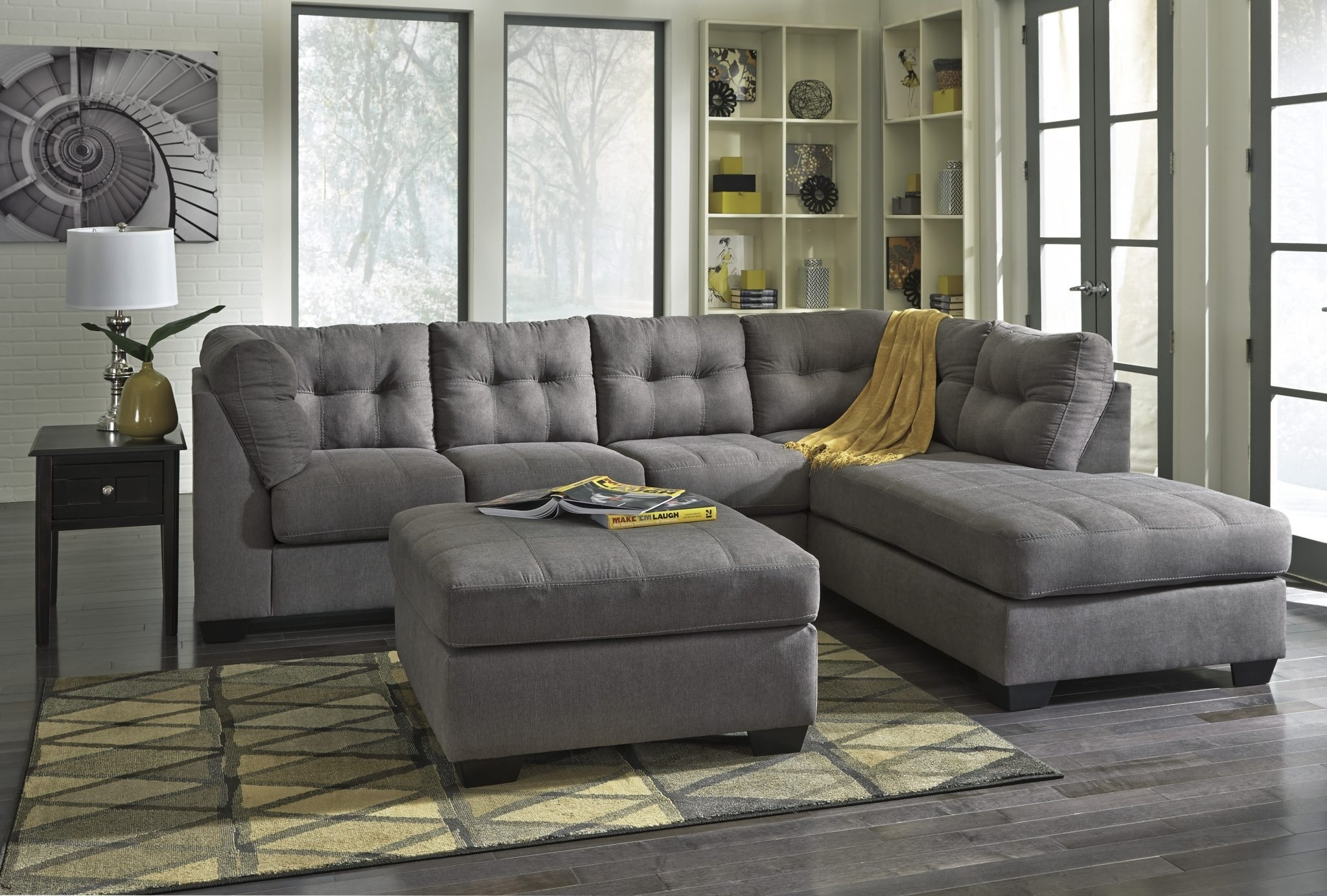 Ashley 452 Maier Sectional | Best Furniture Mentor Oh: Furniture With Meyer 3 Piece Sectionals With Laf Chaise (Image 3 of 25)