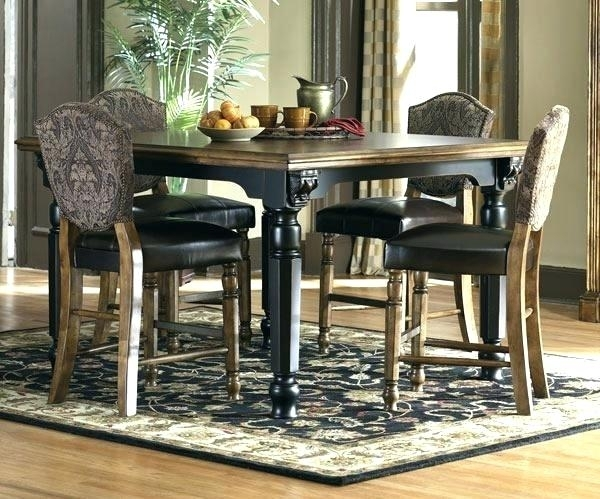 Ashley 5 Piece Dining Set 5 Piece Dining Room Set Ashley Larchmont 5 With Hyland 5 Piece Counter Sets With Bench (Image 3 of 25)