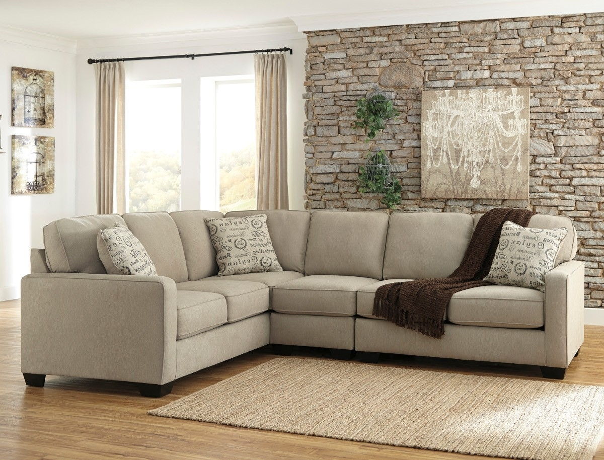 Ashley Furniture Alenya 3 Piece Sectional In Quartz With Armless In Sierra Foam Ii 3 Piece Sectionals (Image 5 of 25)