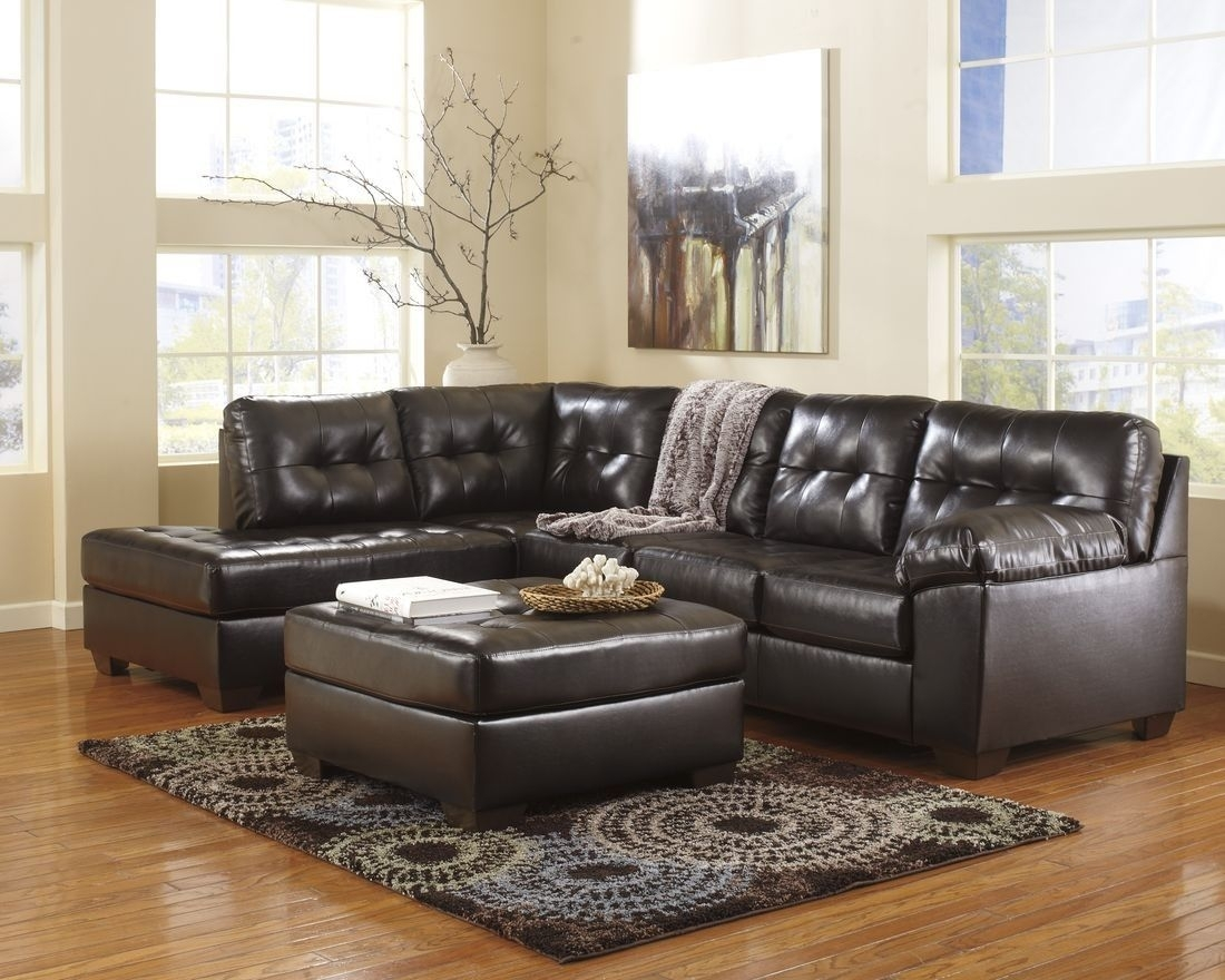 Ashley Furniture Alliston Sectional In Chocolate | Home Decor In Norfolk Chocolate 3 Piece Sectionals With Raf Chaise (Image 1 of 33)