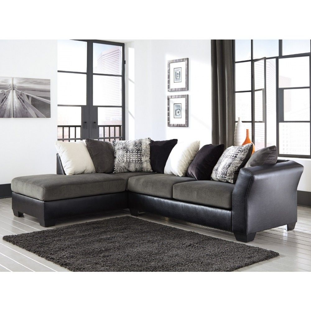 Ashley Furniture Armant Sectional In Ebony | Space Saving Sectionals Inside Turdur 3 Piece Sectionals With Raf Loveseat (Image 2 of 25)