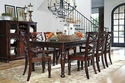 Ashley Furniture Barbados Porter Dining Collections | Redefining My With Regard To Weaver Dark 7 Piece Dining Sets With Alexa White Side Chairs (View 18 of 25)