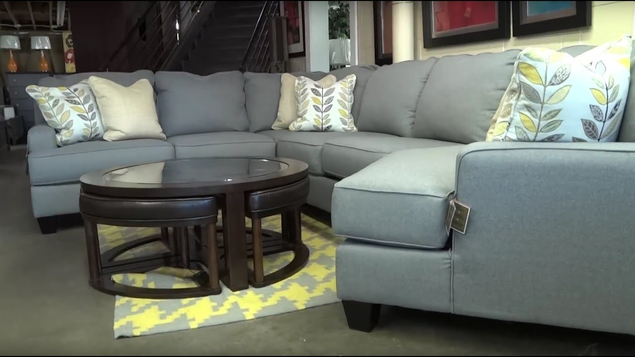 Ashley Furniture Chamberly Alloy Sectional 243 Review – Youtube Within Mcdade Graphite 2 Piece Sectionals With Raf Chaise (Image 2 of 25)