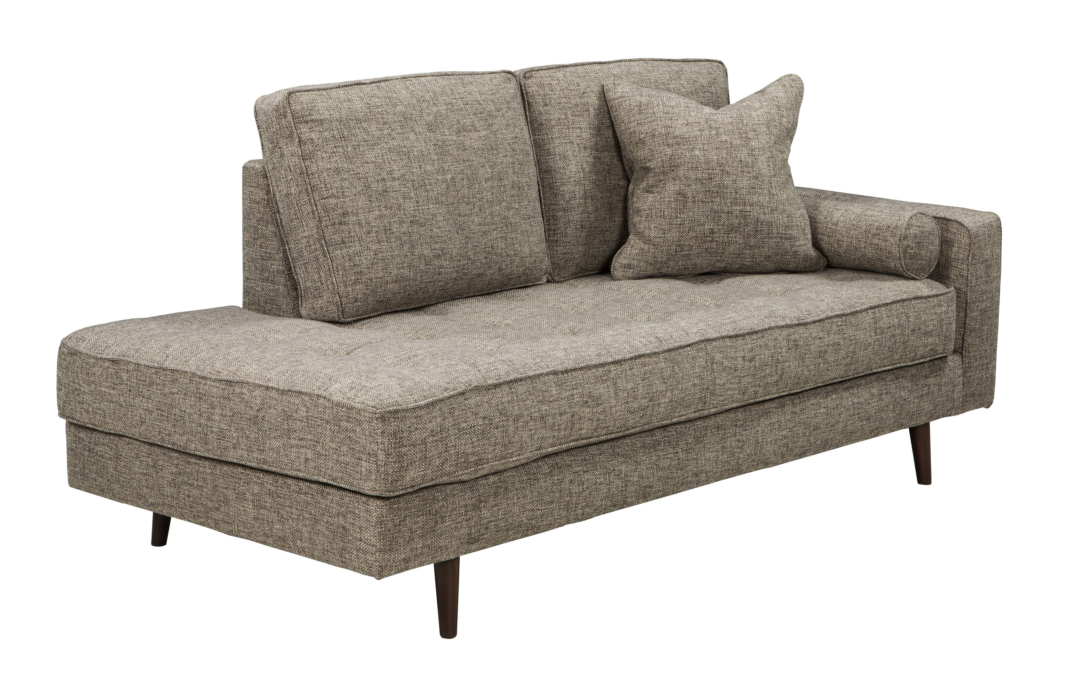 Ashley Furniture Chento Jute Raf Corner Chaise | The Classy Home Regarding Lucy Dark Grey 2 Piece Sectionals With Raf Chaise (Image 5 of 25)