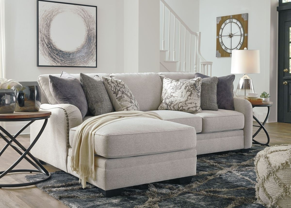 Ashley Furniture Dellara 2 Piece Sectional In Chalk | Local Inside Sierra Foam Ii 3 Piece Sectionals (Image 7 of 25)