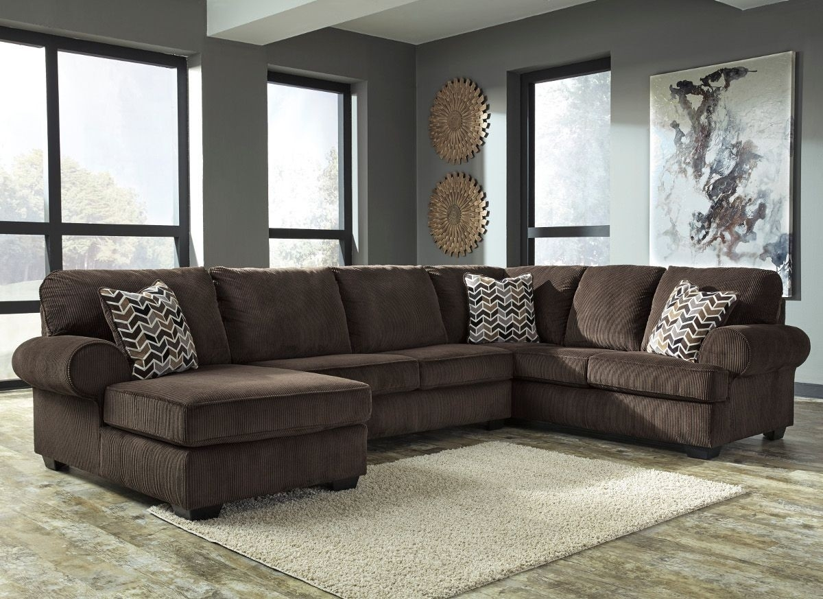 Ashley Furniture Jinllingsly 3 Piece Sectional With Laf Chaise In Inside Sierra Foam Ii 3 Piece Sectionals (Image 8 of 25)