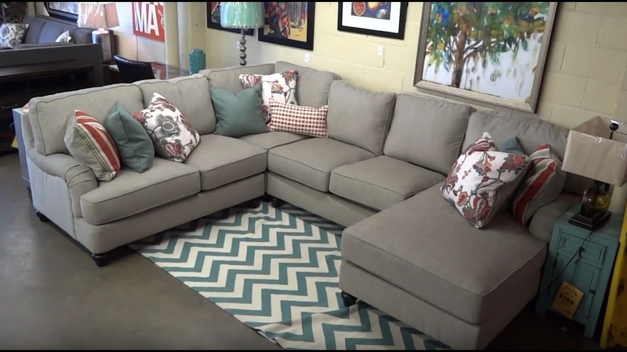Ashley Furniture Kerridon Putty Sectional 263 Review – Youtube Throughout Kerri 2 Piece Sectionals With Laf Chaise (View 17 of 25)