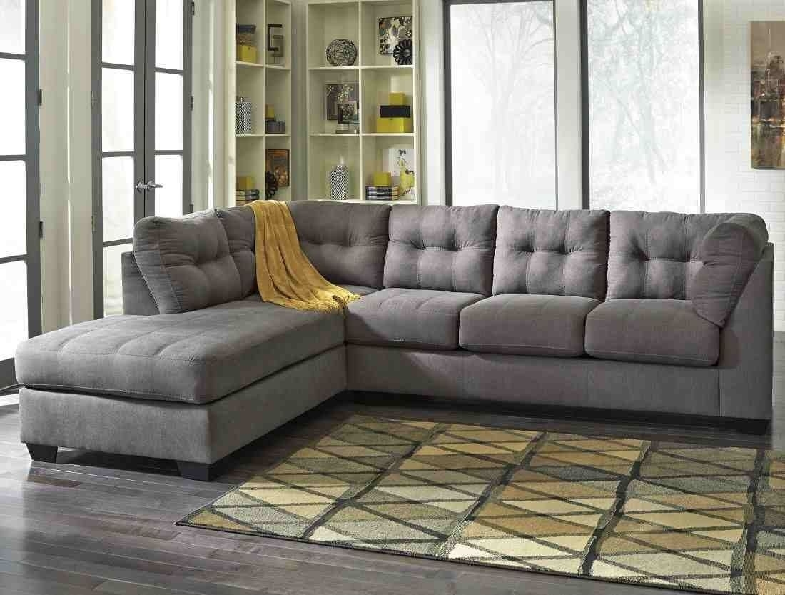 Ashley Furniture Maier 2 Piece Sectional In Charcoal With Laf Chaise Intended For Aspen 2 Piece Sleeper Sectionals With Laf Chaise (Image 4 of 25)