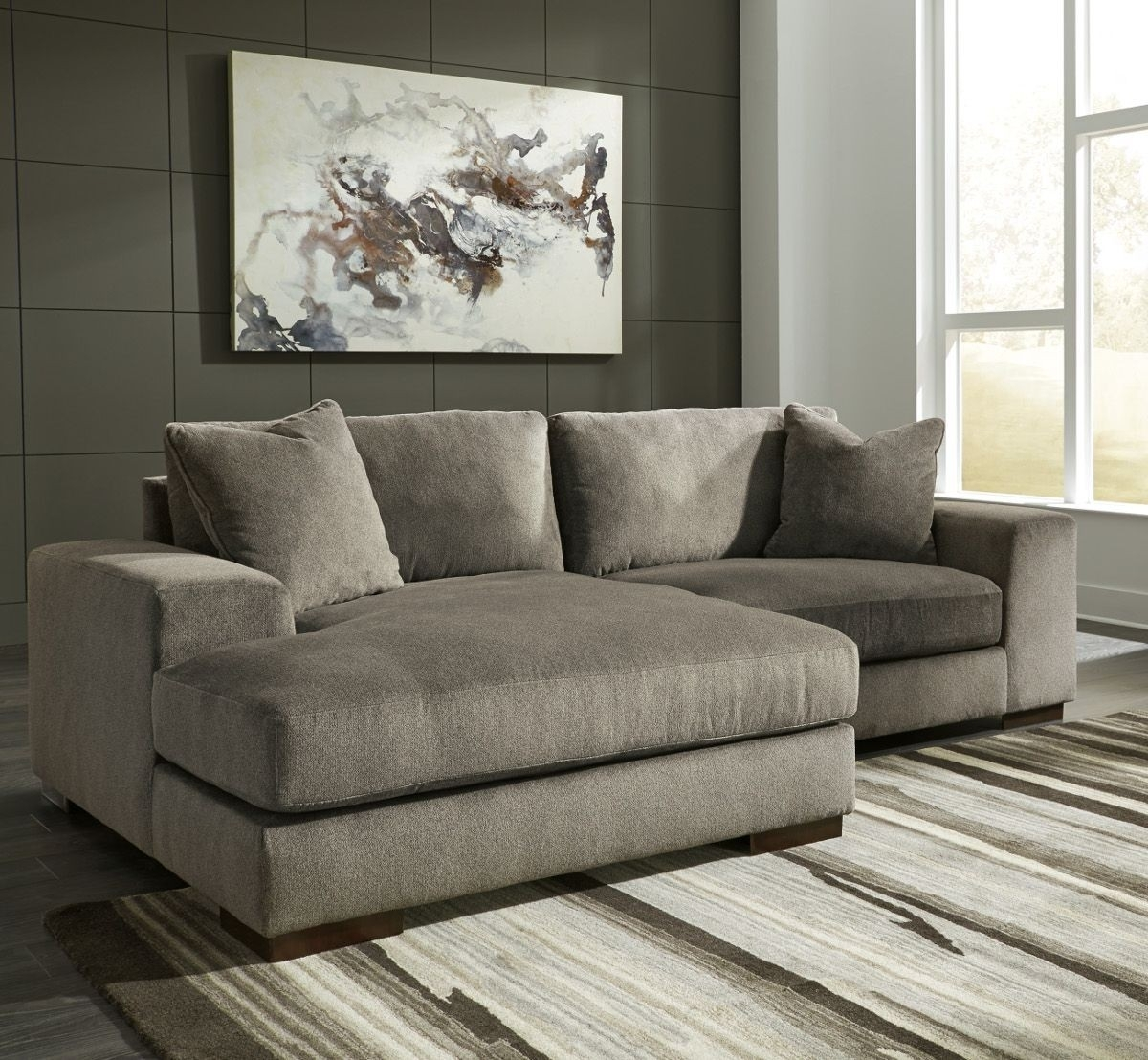 Ashley Furniture Manzani 2 Piece Sectional With Laf Chaise In For Aspen 2 Piece Sectionals With Laf Chaise (View 8 of 25)