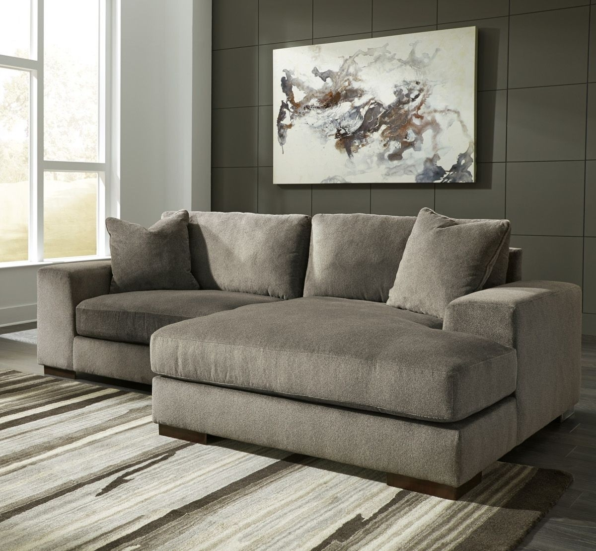 Ashley Furniture Manzani 2 Piece Sectional With Raf Chaise In Intended For Aspen 2 Piece Sectionals With Laf Chaise (View 16 of 25)
