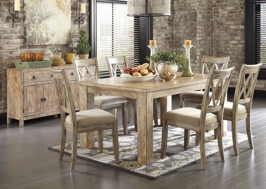 Ashley Homestore – Saudi Arabia Mestler Washed Brown Rectangular Within Rectangular Dining Tables Sets (View 5 of 25)