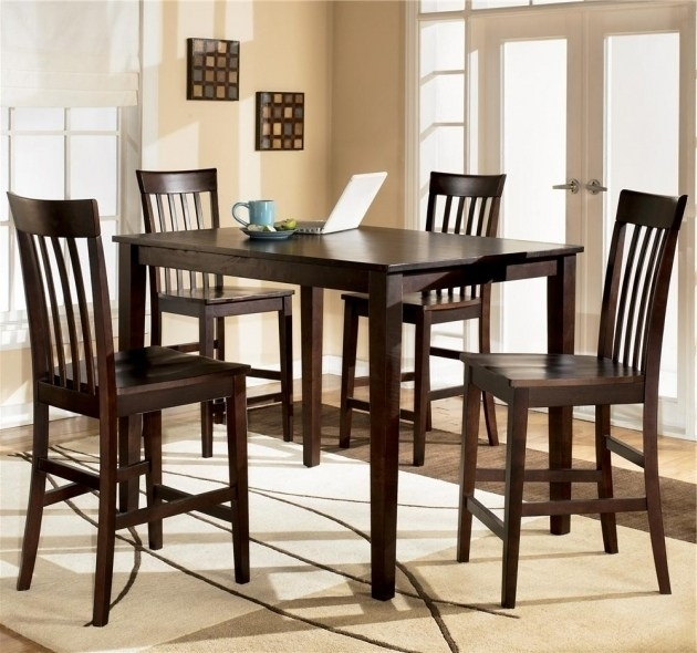 Ashley Kitchen Table Sets – Castrophotos In Hyland 5 Piece Counter Sets With Stools (View 2 of 25)