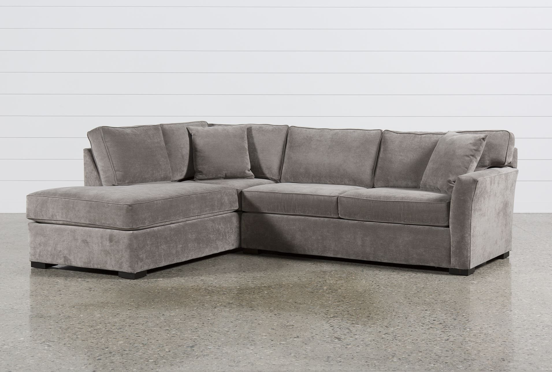 Aspen 2 Piece Sectional W/laf Chaise, Grey, Sofas | Aspen And Apartments In Avery 2 Piece Sectionals With Raf Armless Chaise (View 5 of 25)