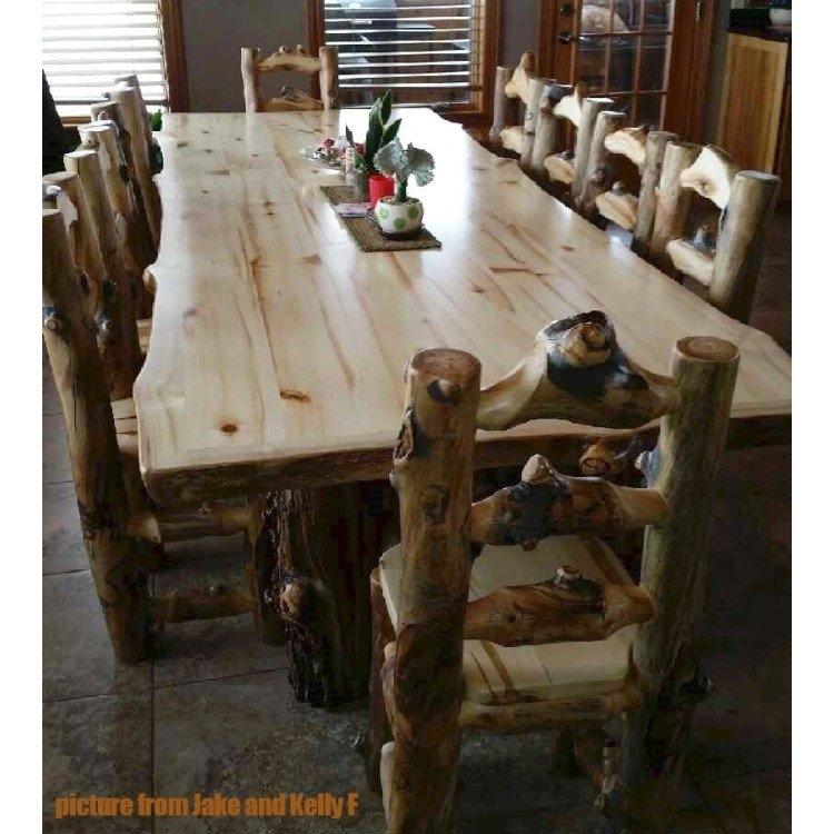 Aspen Lodge 6 Foot Dining Table | Aspen Log Dining Table With Aspen Dining Tables (Image 12 of 25)