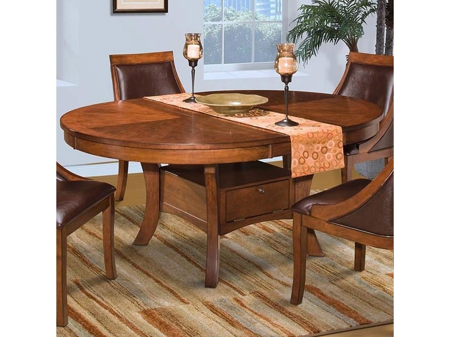 Aspen Round Dining Table In Burnished Cherry – Shop For Affordable Intended For Aspen Dining Tables (Image 15 of 25)
