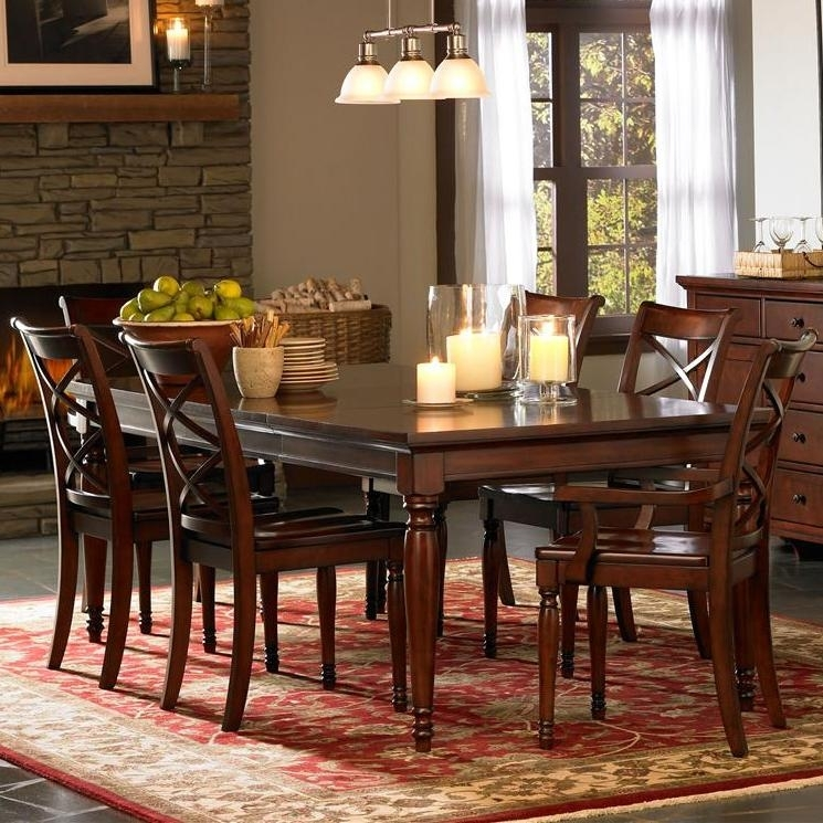 Aspenhome Cambridge 7 Piece Rectangular Leg Dining Table & Chair Set With Regard To Cambridge Dining Tables (View 10 of 25)