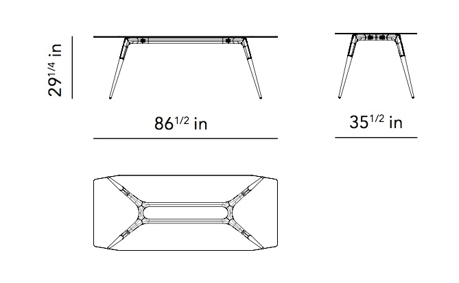 Assembly 87 Inch Dining Table With Glass Top And Smoked Oak And Cast Intended For 87 Inch Dining Tables (Image 5 of 25)