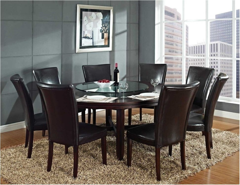 Astonishing Round Dining Table Seats 8 Modern Tables Room Intended Intended For Dining Tables Seats  (Image 5 of 25)