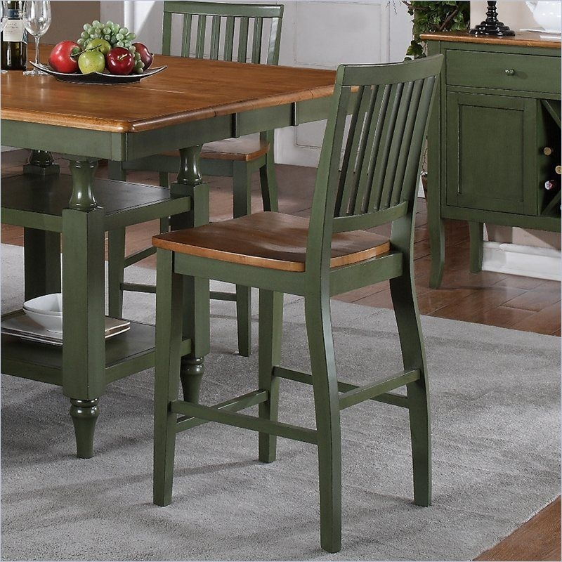 Astounding Counter High Dining Sets Oak | Dining Table Ideas For Candice Ii 5 Piece Round Dining Sets With Slat Back Side Chairs (Image 13 of 25)