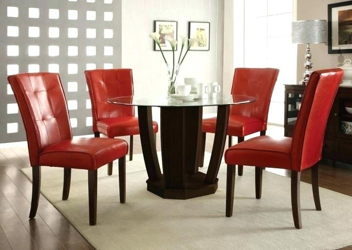 Astounding Red Dining Room Table Oak Runner And Chairs Modern Lovely Intended For Red Dining Table Sets (Image 3 of 25)