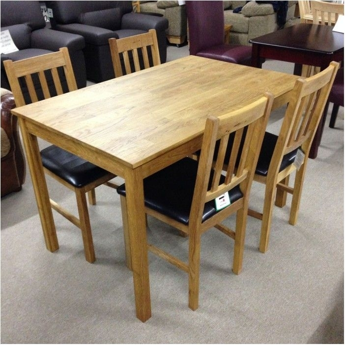 Astounding Solid Oak Dining Table With 4 Chairs Flintshire Chester Regarding Round Oak Dining Tables And 4 Chairs (View 18 of 25)