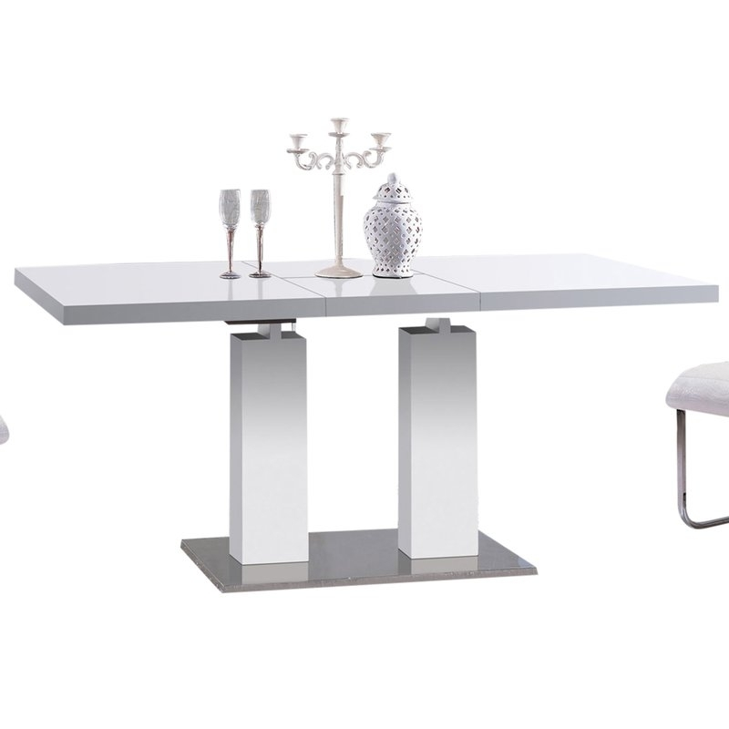 At Home Usa Delfina Expandable Dining Table & Reviews | Wayfair For Delfina 7 Piece Dining Sets (Image 3 of 25)
