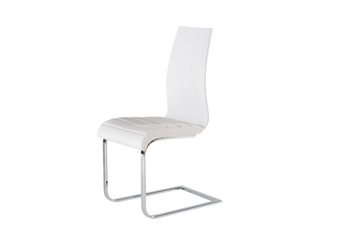 At Home Usa Skudc20105 Delfina White Dining Chair – (Set Of 2 ) With Regard To Delfina Dining Tables (Image 3 of 25)