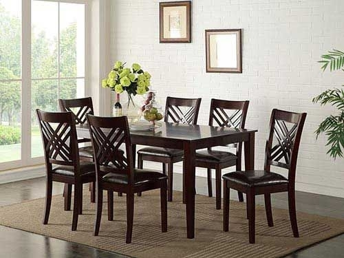 "At Rent A Center The Standard ""staten"" 7 Piece Dining Set Features With Craftsman 7 Piece Rectangular Extension Dining Sets With Arm & Uph Side Chairs (Image 7 of 25)"