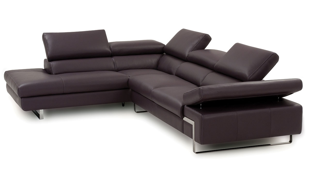 Atelier Italiana Leather Sectional With Left Side Chaise | The Dump For Norfolk Grey 6 Piece Sectionals With Raf Chaise (Image 2 of 25)