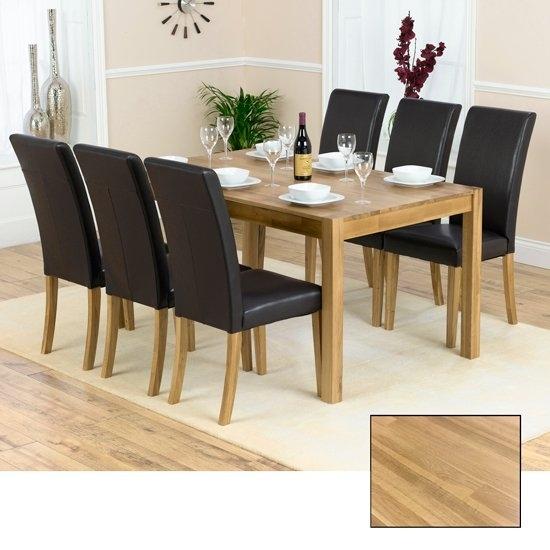 Atlanta Solid Oak Dining Table And 6 Atlanta Dining Chairs With Solid Oak Dining Tables And 6 Chairs (Image 1 of 25)