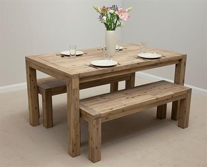 Attractive Dining Table And Bench Set Unusual Dining Table And Bench Regarding 3Ft Dining Tables (View 3 of 25)