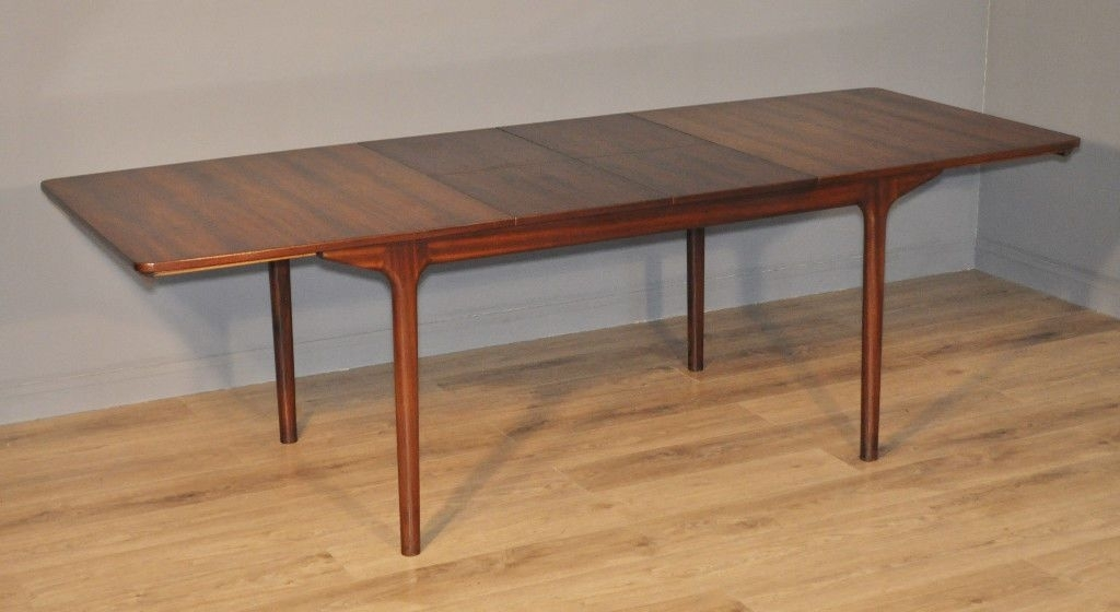 Attractive Large Vintage Retro 60/70's Mcintosh Rosewood Extending Pertaining To Retro Extending Dining Tables (View 14 of 25)
