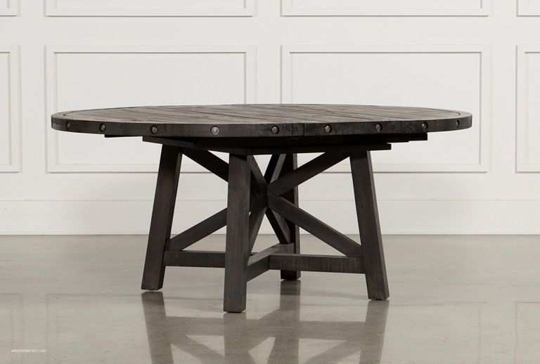 Attractive Living Spaces Rustic Dining Table With Round Dining Table Inside Mallard Extension Dining Tables (Image 2 of 25)