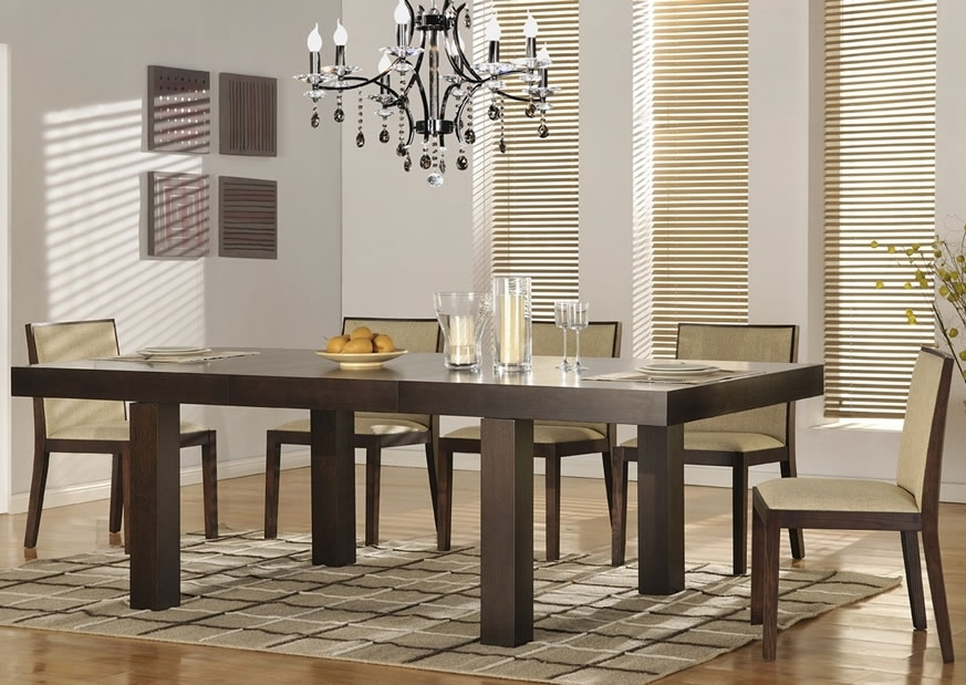 Attractive Modern Dining Room Sets — Bluehawkboosters Home Design Inside Modern Dining Room Furniture (Image 4 of 25)
