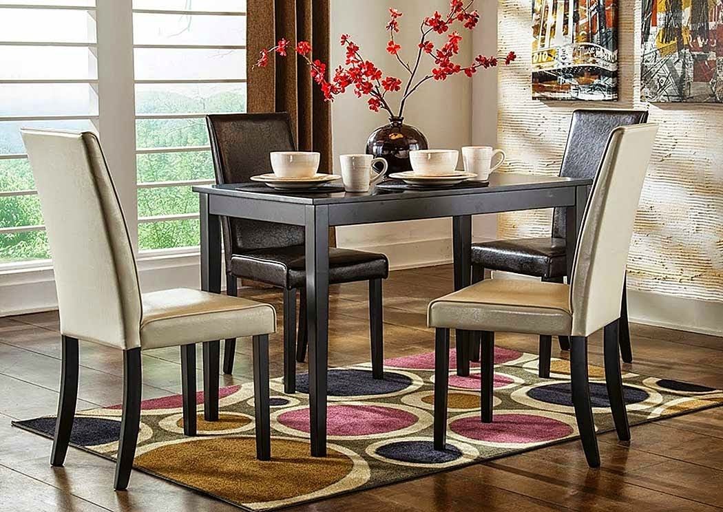 Audrey's Place Furniture Kimonte Rectangular Dining Table W/2 Dark Throughout Rectangular Dining Tables Sets (Image 7 of 25)