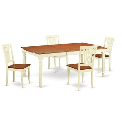 August Grove Carmel 5 Piece Dining Set In 2018 | Products With Regard To Jaxon 5 Piece Extension Counter Sets With Wood Stools (Image 5 of 25)