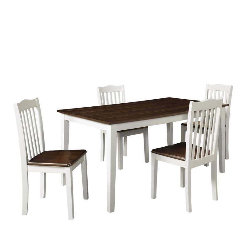 August Grove Dawson 5 Piece Dining Set & Reviews | Wayfair Intended For Dawson Dining Tables (View 13 of 25)