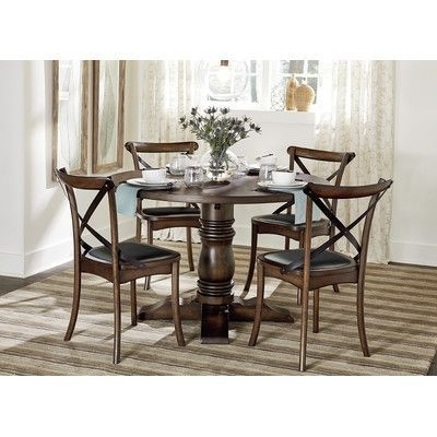 August Grove Dining Table Base | Products | Pinterest | Products For Caden 5 Piece Round Dining Sets With Upholstered Side Chairs (View 13 of 25)
