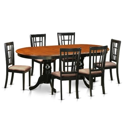August Grove Pilcher 7 Piece Extendable Dining Set | Products With Teagan Extension Dining Tables (View 20 of 25)