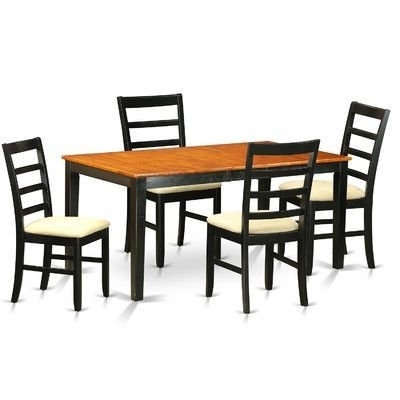 August Grove Pillar 5 Piece Dining Set | Products | Pinterest Pertaining To Jaxon 5 Piece Extension Round Dining Sets With Wood Chairs (View 6 of 25)