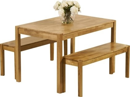 August Grove Rory Dining Set With 2 Benches | Wayfair.co (Image 2 of 25)