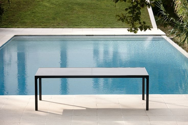 Aura Glass Extendable Dining Table – Couture Outdoor In Outdoor Extendable Dining Tables (Image 5 of 25)