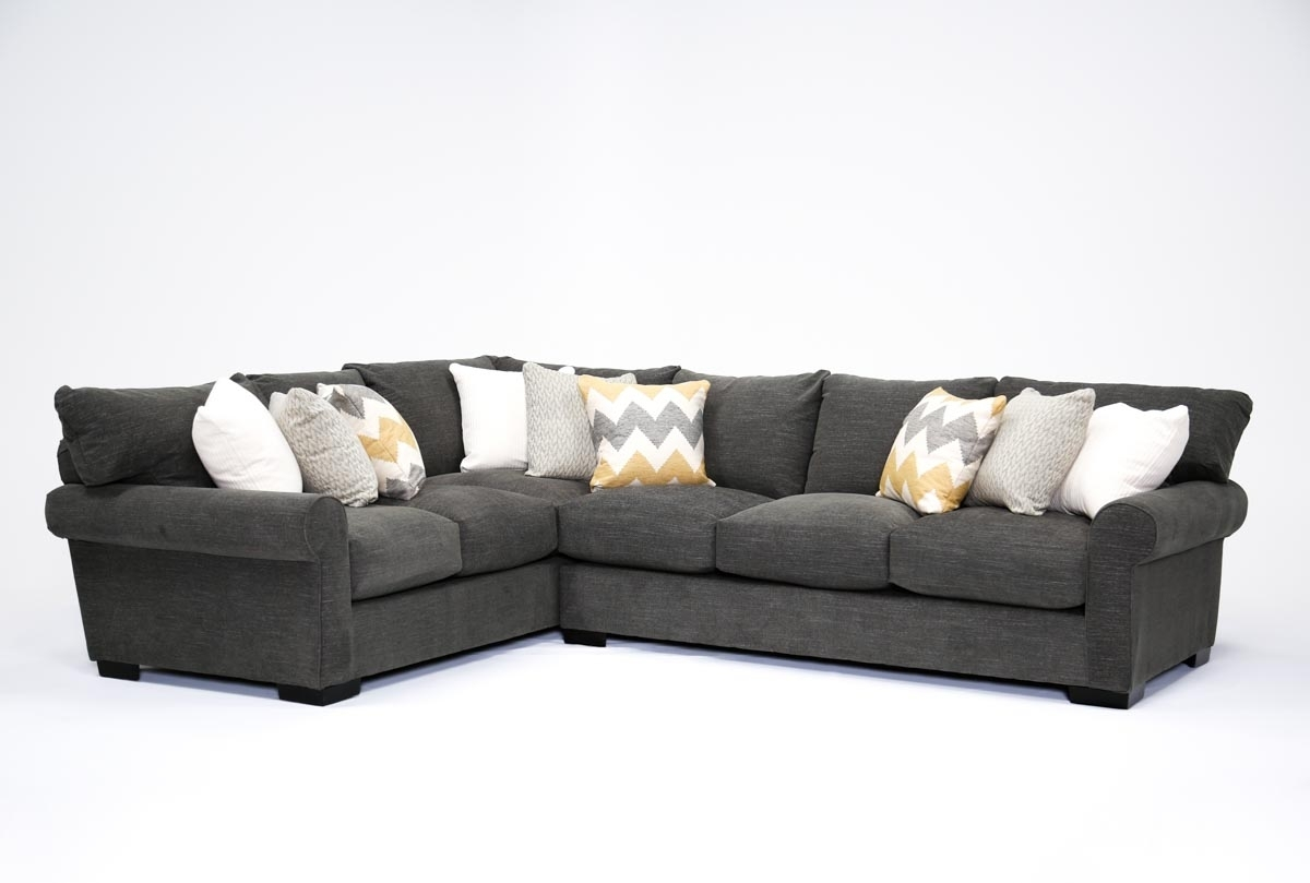 Aurora 2 Piece Sectional | Living Spaces With Mcculla Sofa Sectionals With Reversible Chaise (Image 1 of 25)