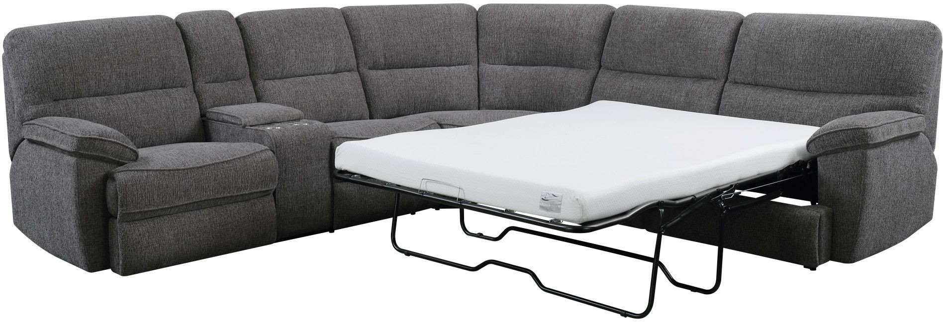 Aurora Platinum 3 Piece Power Reclining Sleeper Sectional From In Aurora 2 Piece Sectionals (Image 7 of 25)