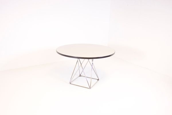 Austrian Formica And Chrome Dining Table From Thonet For Sale At Pamono Within Chrome Dining Sets (Image 4 of 25)