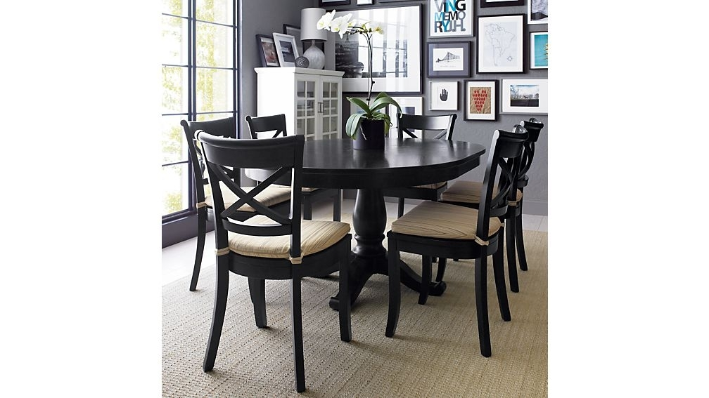 """Avalon 45"""" Black Round Extension Dining Table + Reviews   Crate And For Dark Wood Dining Tables And 6 Chairs (Image 2 of 25)"""