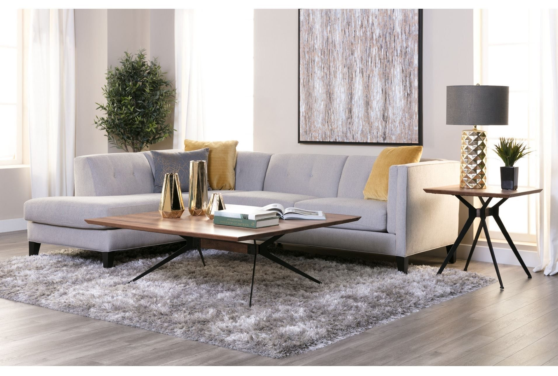 Avery 2 Piece Sectional W/laf Armless Chaise | Home Decor/interior Intended For Aidan 4 Piece Sectionals (Image 10 of 25)