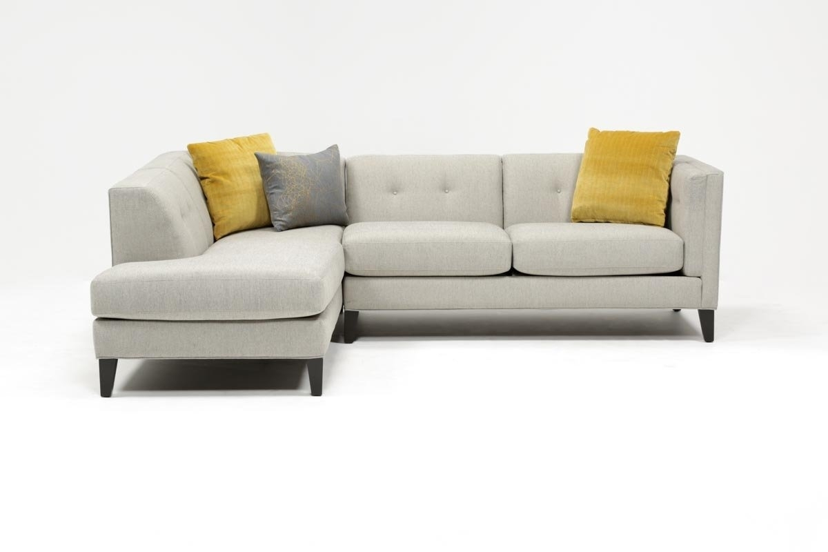 Avery 2 Piece Sectional W/laf Armless Chaise | Living Spaces Pertaining To Mcculla Sofa Sectionals With Reversible Chaise (Image 3 of 25)
